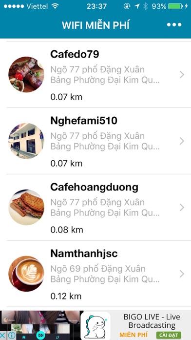 Wifi miễn phí - Ứng dụng tìm kiếm wifi mien phi