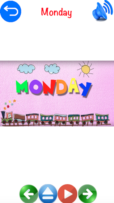 Preschool Education - Days and Months Learning for Kids Using Flashcards and Sounds screenshot two