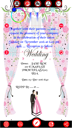 Wedding invitation cards maker na app store stopboris Image collections