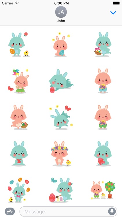 Cute Bunny Sticker Pack