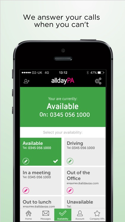 alldayPA - never miss a call