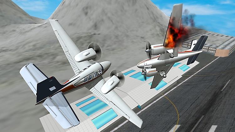 Winter Airplane Crash Landing Pilot Simulator Game screenshot-3