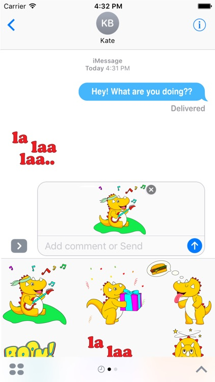 Macho Dino Stickers pack for iMessage