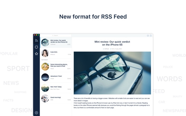 Stripes - RSS News Reader Screenshot