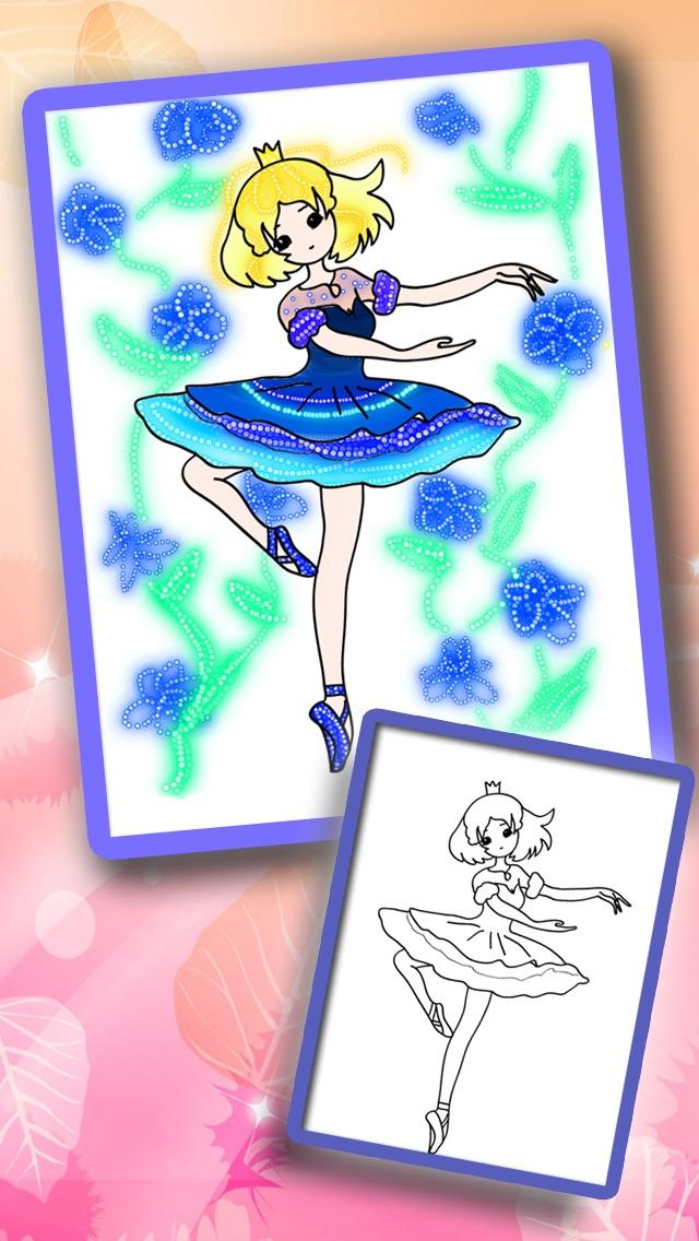 お姫様ぬりえ絵本 -デコぬりえ - お絵描きパッドとぬりえの2in1スクリーンショット4