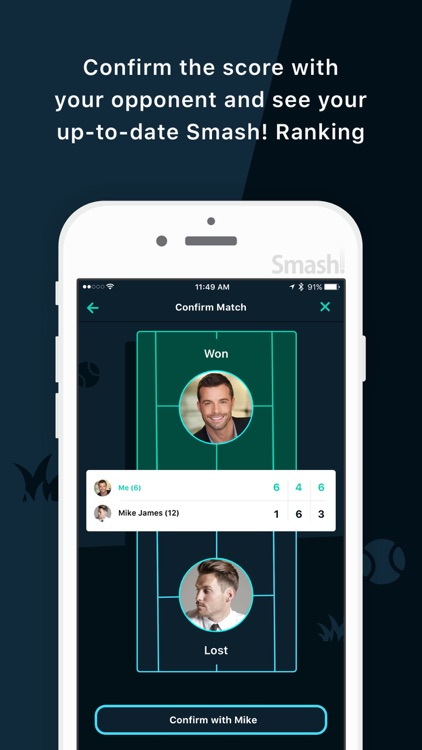 Smash Tennis - Best app for tennis players