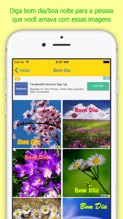 Hola! Bom Dia Screenshot on iOS
