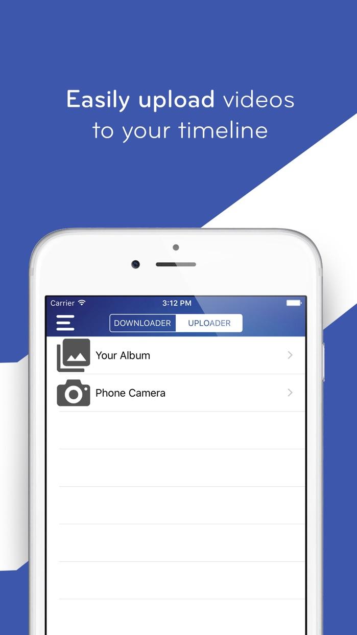 Video Saver - Save & Upload Videos for Facebook Screenshot