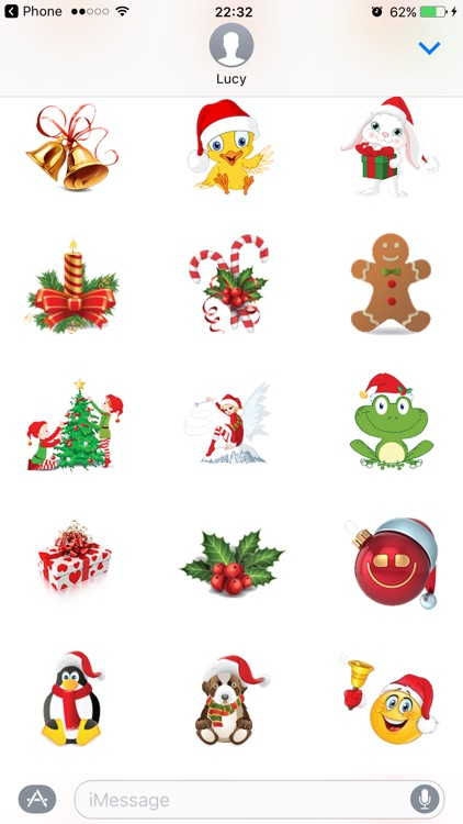 Santa Stickers Pack for Christmas iMessage Texting screenshot-4