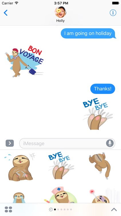 Andy the Sloth - Lazy Stickers for iMessage
