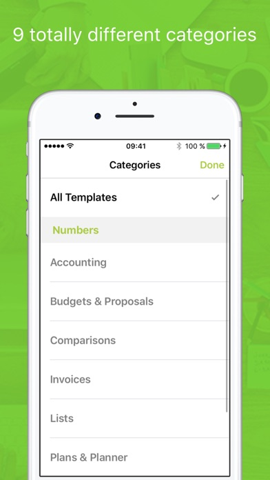 Templates for Numbers Professionalのスクリーンショット1