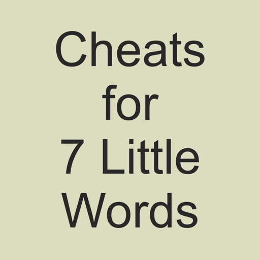 Cheats for 7 Little Words