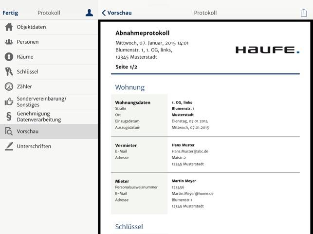 ipad screenshots - Wohnungsubergabeprotokoll Muster
