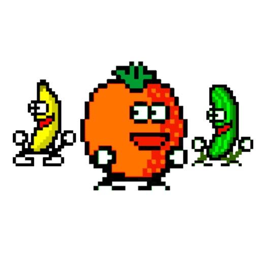 fruity ~ dancing food sticker pack
