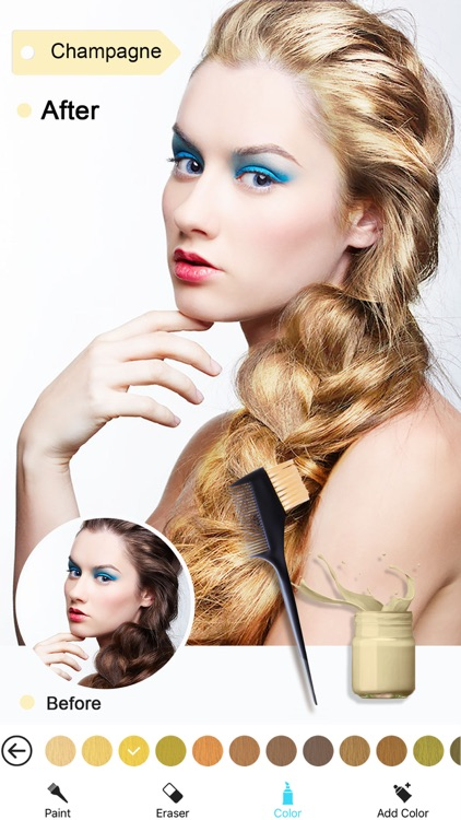 Hair Color Dye -Switch Hairstyles Wig Photo Makeup