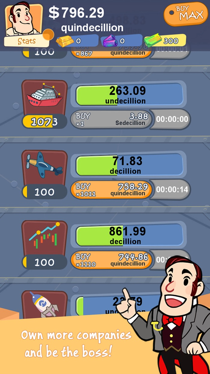 Richman Adventure - Idle Clicker Games of Money Screenshot