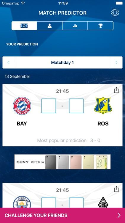 UEFA Champions League Predictor