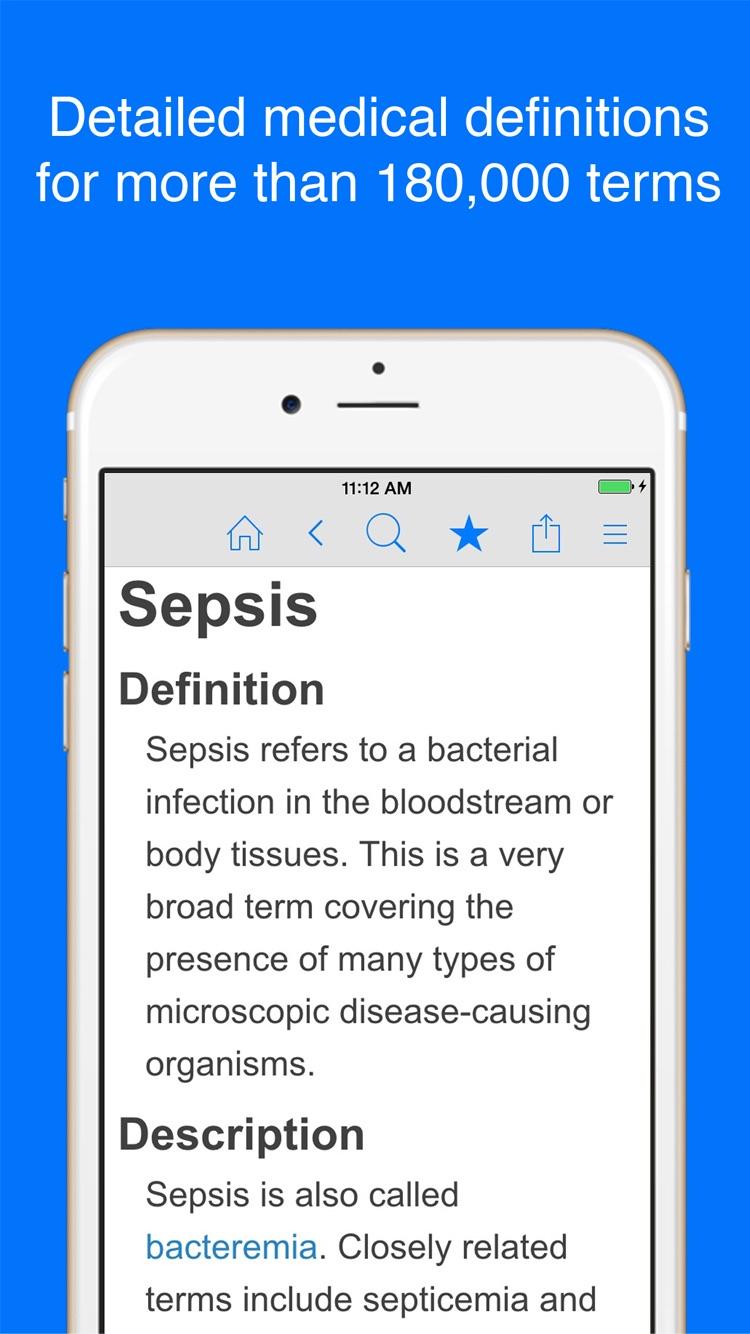 Medical Dictionary - Healthcare Terminology Screenshot