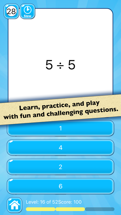 Division Practice: Learn Basic Math Facts