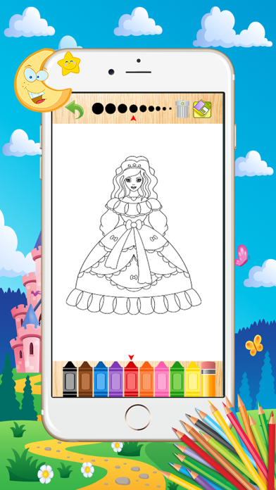 Princess Coloring Book - Paint Learning For Kids screenshot three