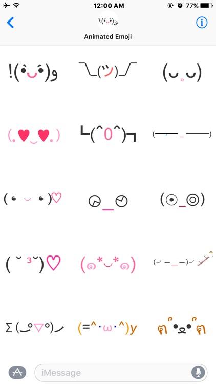Animated Face Emoji(Kaomoji) Stickers