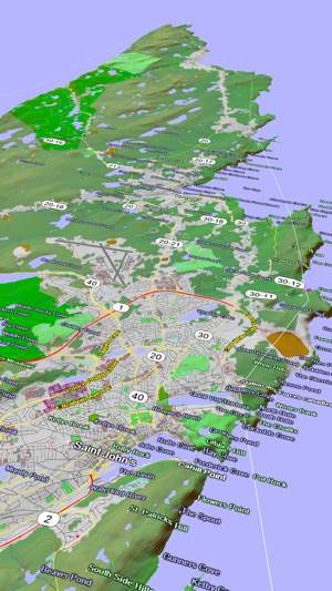 scenic map eastern canada on the app store