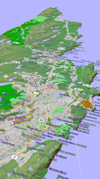 Scenic Map Eastern Canada screenshot-3