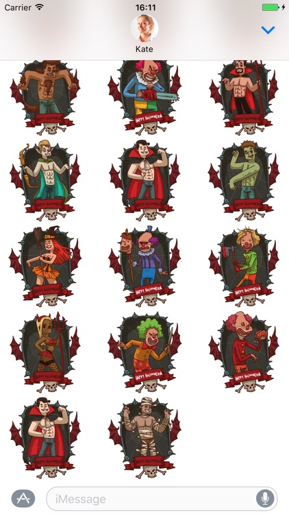 Halloween Pack 4 - Stickers for iMessage