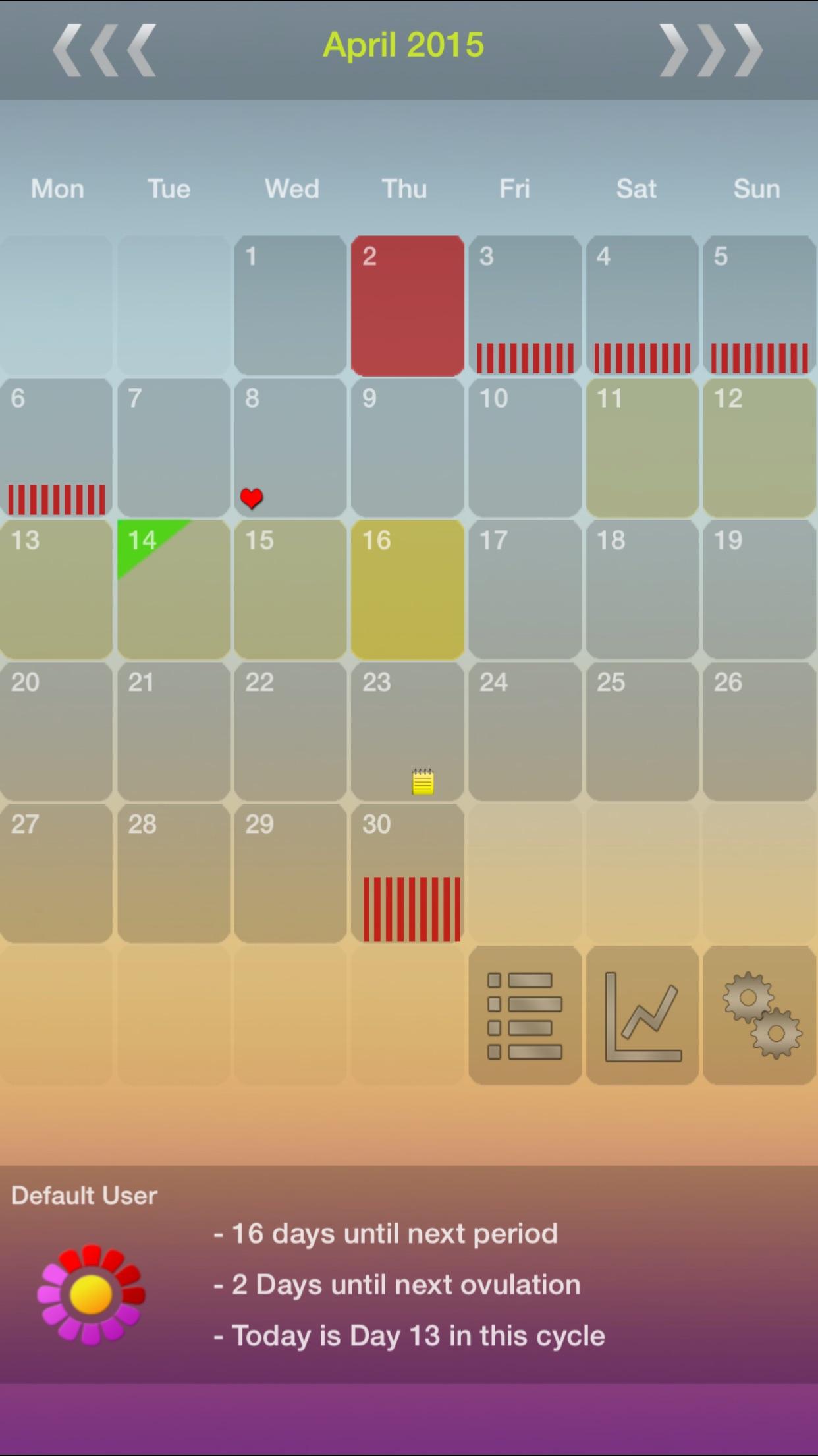 My Days X - Period & Ovulation ™ Screenshot