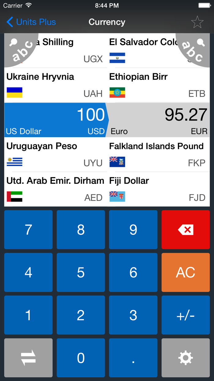 Unit Converter FREE - Best Units & Currency app Screenshot