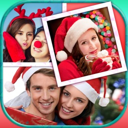 Christmas Photo Collage: Winter Holiday Pic Frames