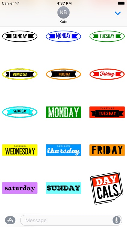 DayCals: Days & Months Calendar Stickers screenshot-3