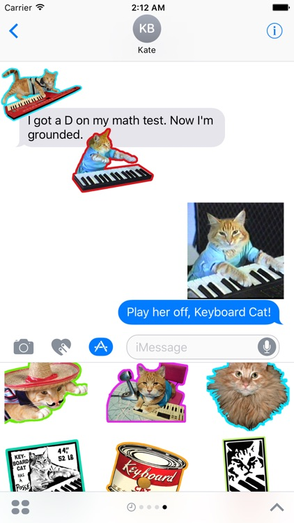 Keyboard Cat Stickers!