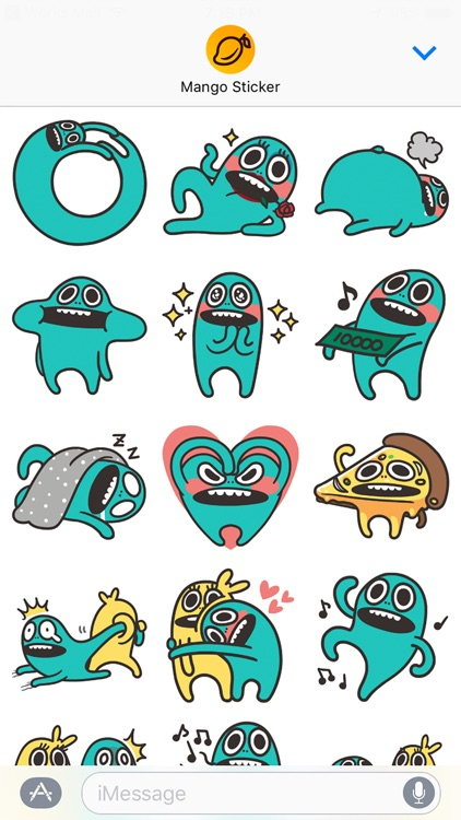 Silly Days with Wooeng - Mango Sticker