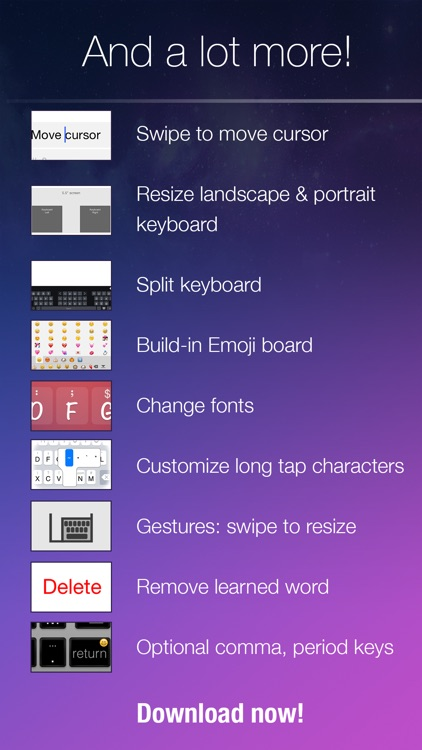 Blink Keyboard-one-hand, fast typing,emojiKeyboard screenshot-4