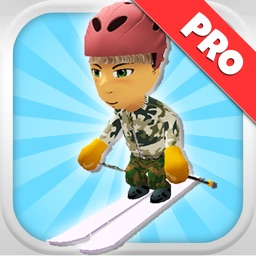 A Downhill Snow Skier: 3D Mountain Skiing Game - Pro Edition