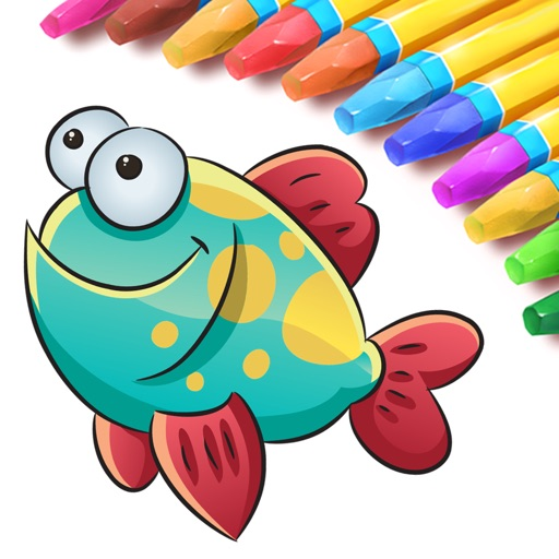 Sea Animals Coloring Book for Toddlers iOS App