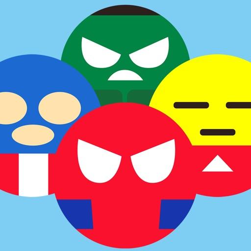 Superheroes Emoji Revolve - Emoticons Gamebattles