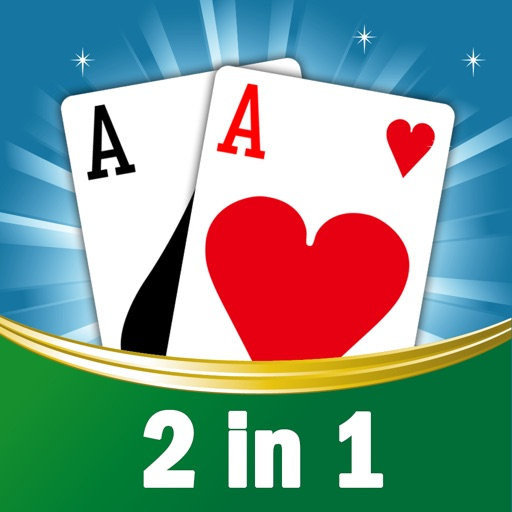 2 in 1 New for FreeCell, game, leisure solitaire