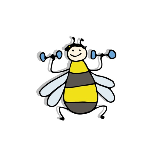 Funny Bee Stickers By First Draft Interactive Limited
