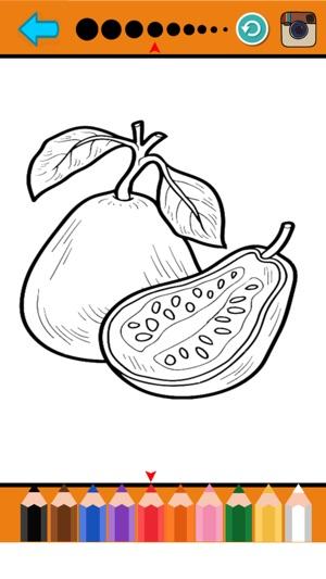 Obst Speisen Färbung Seite Drawing-Buch für Kinder im App Store