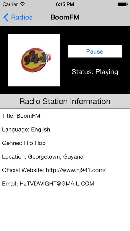 Guyana Radio Live Player (Georgetown / English) screenshot-3