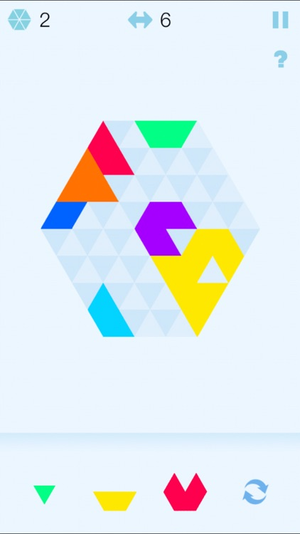 Color Hexagon Merged! - six hexa jigsaw puzzle fit