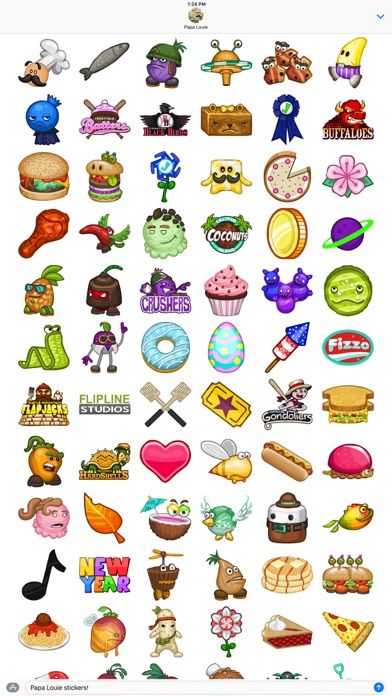 Papa Louie Stickers Screenshot