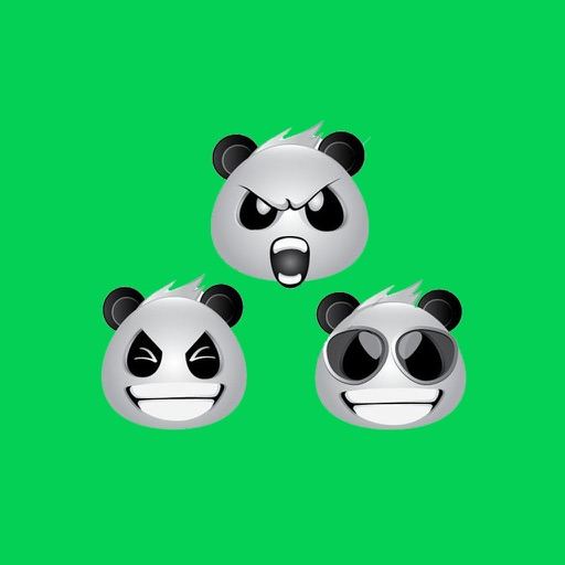 Panda Face Emoji - Sticker
