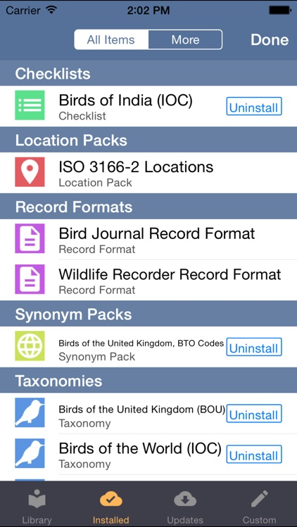 Bird Journal - Recording & Listing for Birders