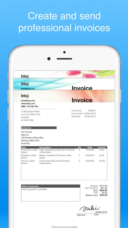invoice maker pro - Create invoices on the go free