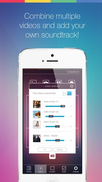 Vidstitch Pro for Instagram - Video Frames Collage screenshot-4