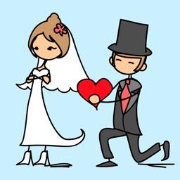 Happy Wedding Sticker Pack