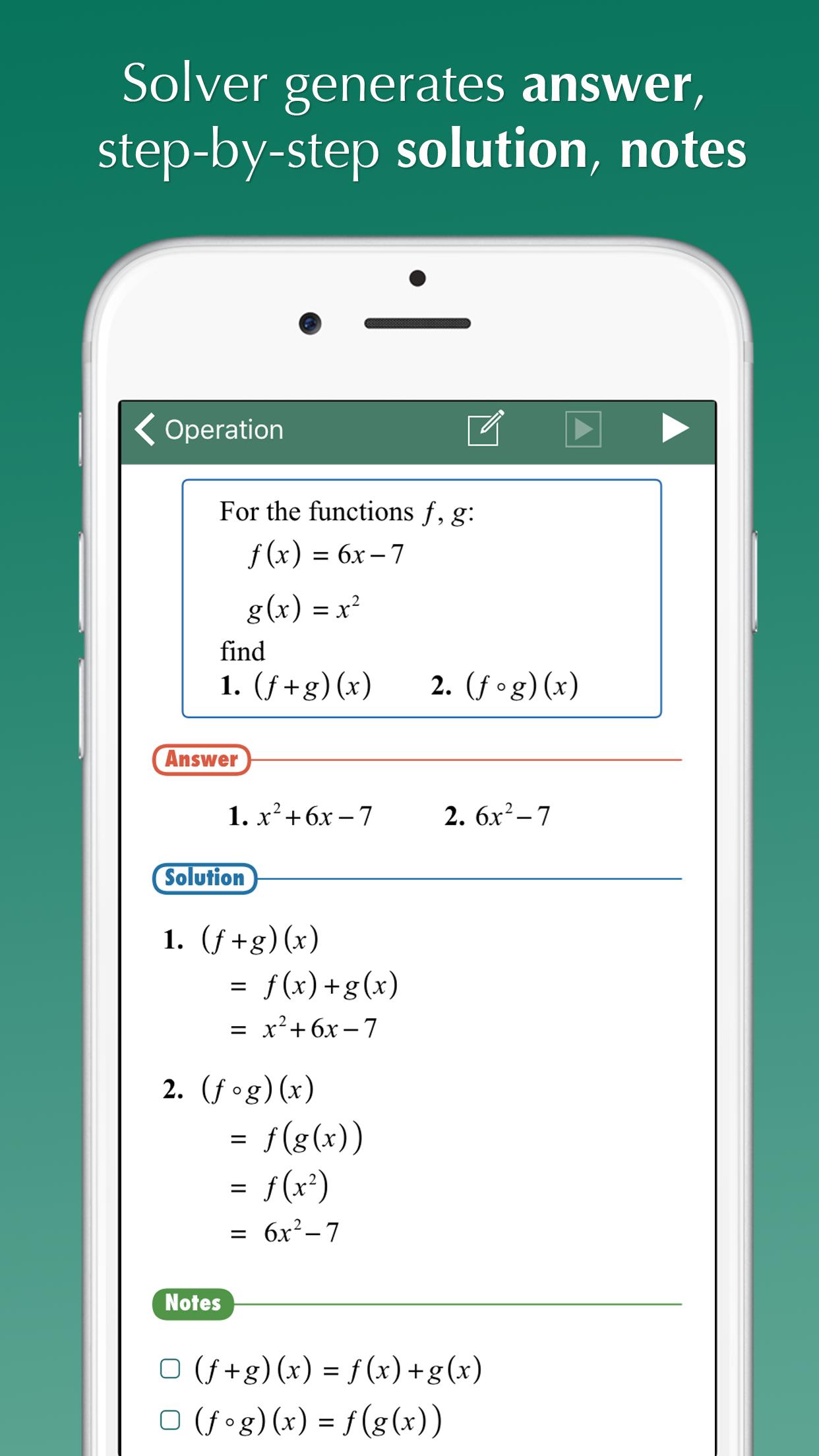 FX Algebra Solver Screenshot